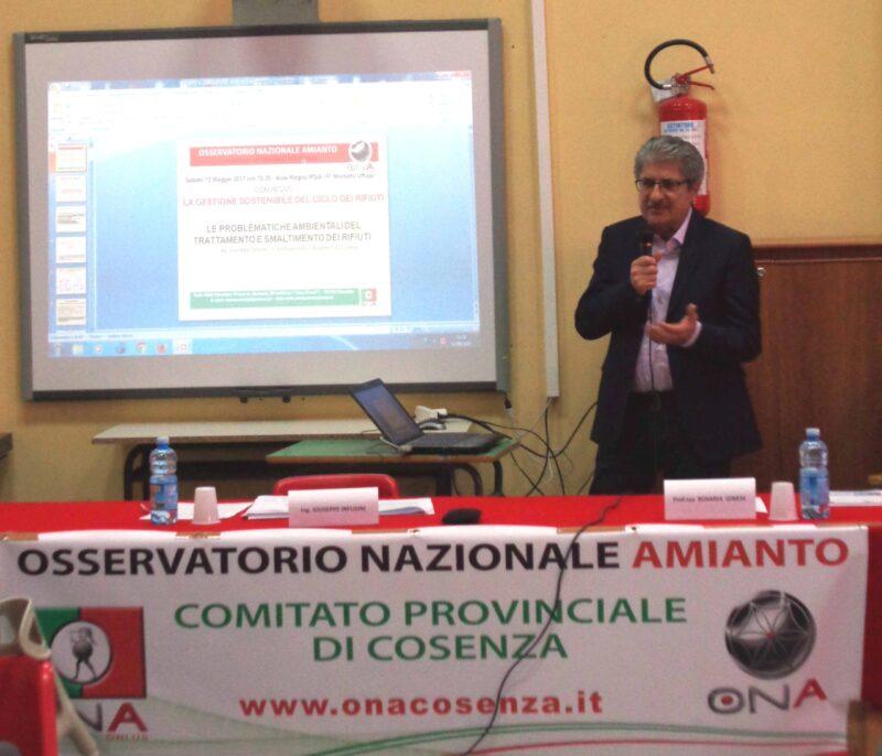 Il presidente Infusini chiede che nell'agenda governativa venga posta attenzione al rischio amianto finora sottovalutato in Calabria